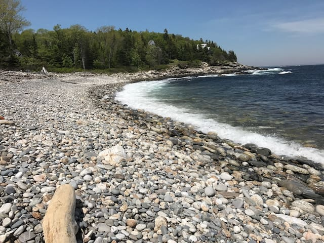 Pumpkin Cove is a short walk from the house