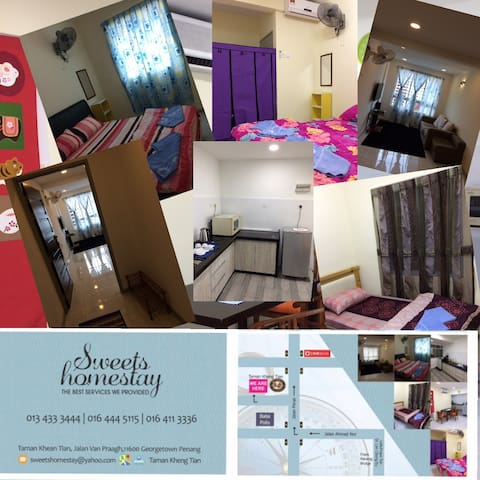 Art street 2.5km, cosy stay for 5pax, superb WiFi