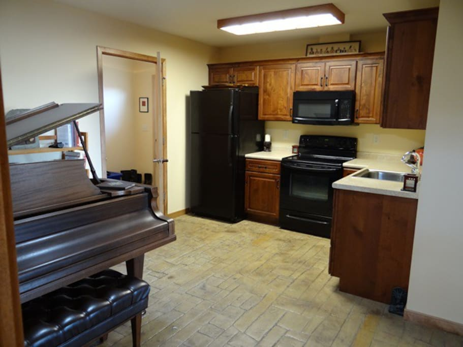 The kitchen is shared with another guest if the second bedroom is rented. Otherwise it's all yours!