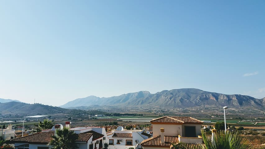 View from the villa roof terrace