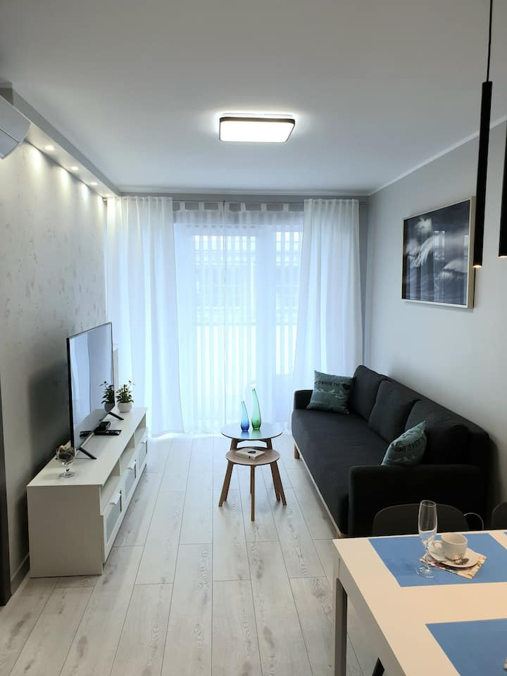 Premium Apartment, AC, fully+ equipped, near beach
