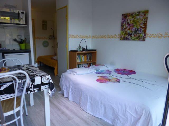 Studio env 16m² , sud,wifi et parking gratuit . - Lamalou-les-Bains - Apartamento