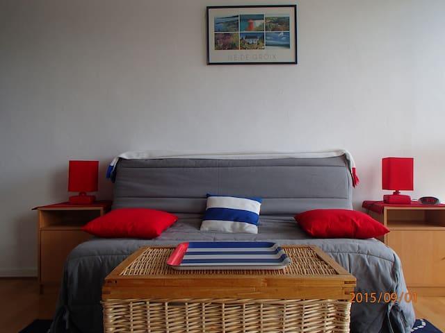 studio meubl ensoleill au calme avec garage apartments for rent in lorient bretagne france. Black Bedroom Furniture Sets. Home Design Ideas