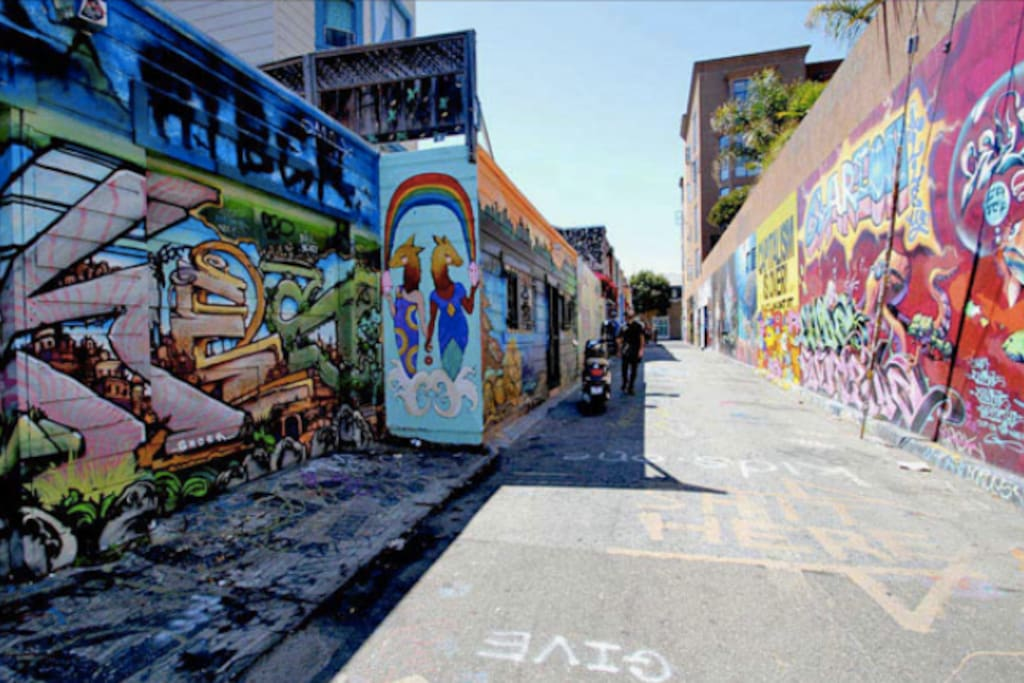 Incredible murals can be found all over the Mission.