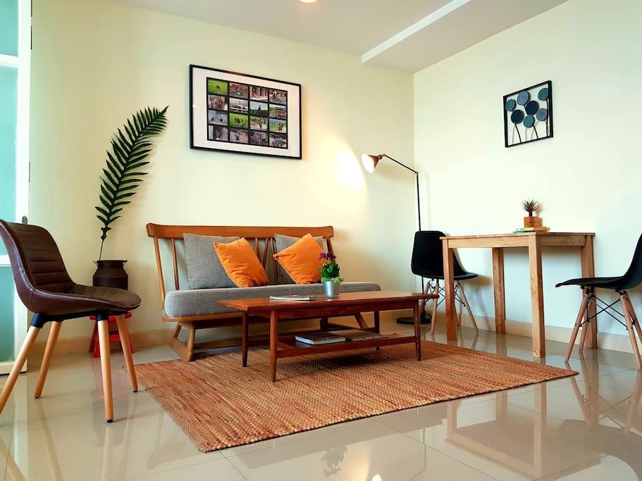 living room/dinning corner