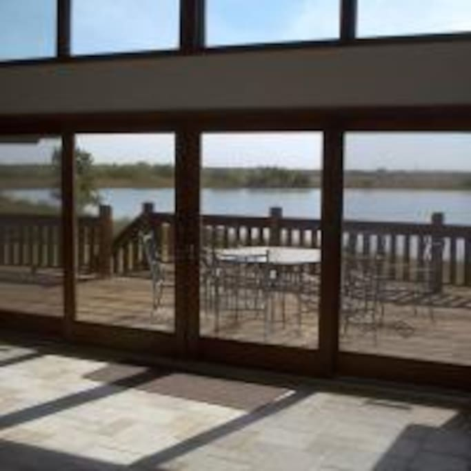 Deck looking out to the Lake
