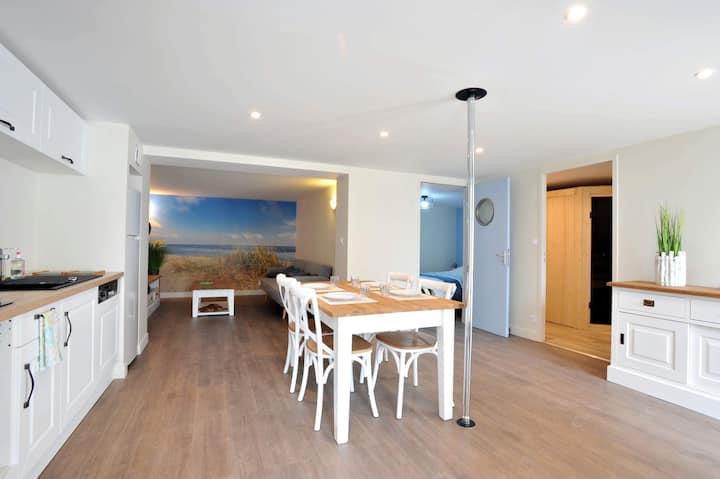 Appart avec sauna et terrasse, 5min de La Rochelle