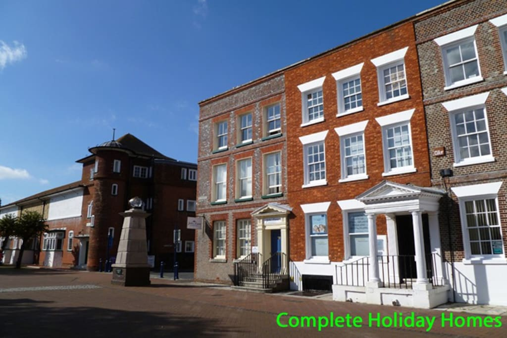Located on the edge of town centre with allocated parking