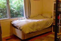 Bedroom 2 with bunk and king single (3 beds)