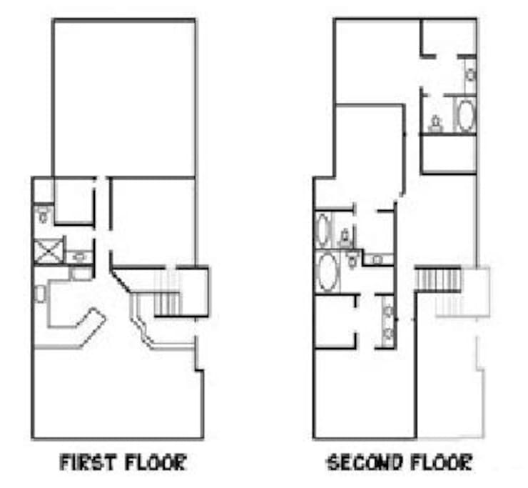 Floor Plan--Approximately 2000 square feet, 4 bedrooms + loft, 4 baths, laundry
