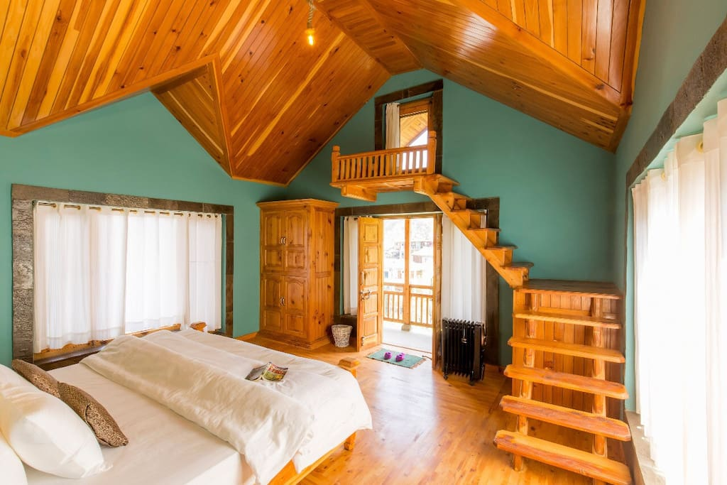 Stairway to heaven!! Our Premium Mountain View Room :)