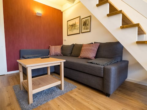 Small duplex terraced house with feel-good factor