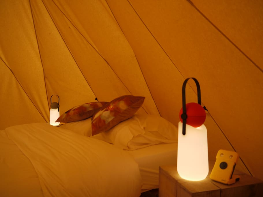 THE TIPI LODGE with rechargeable romantic ambient lighting and adventurous flashlight all in one.