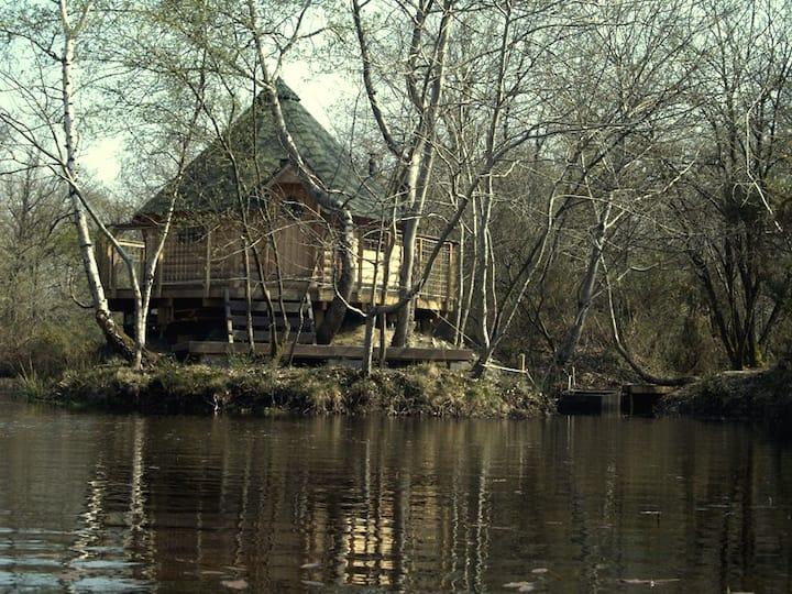 Cabane : île aux Canets, Thoureil, Maine & Loire