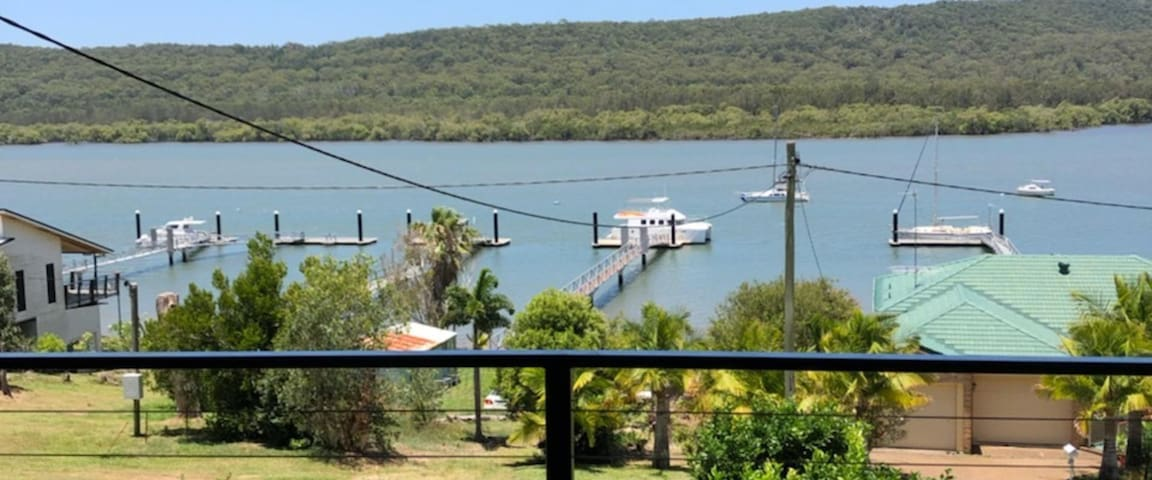 views from the upper deck stradbroke in the background