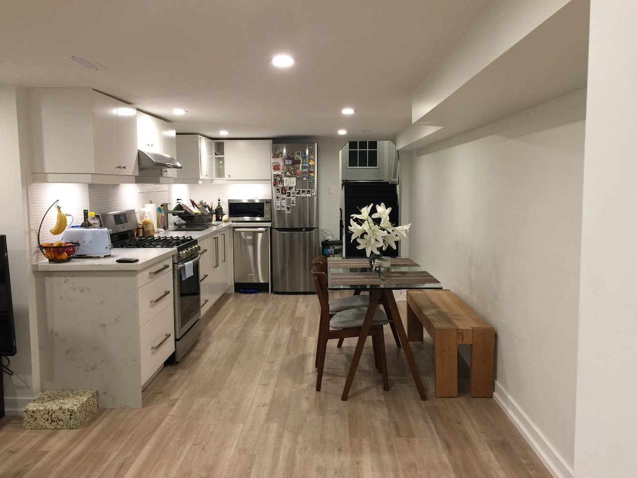 Kitchen + Dining area
