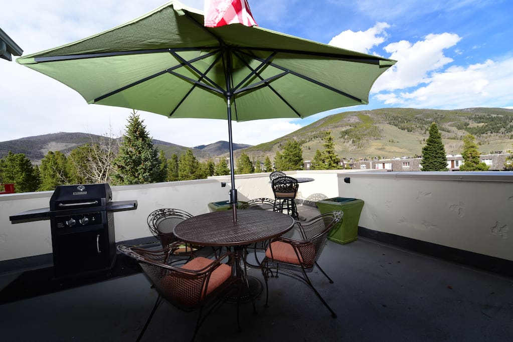 Very Large and Private Patio sits 3 stories high for elevated view of surrounding landscape!