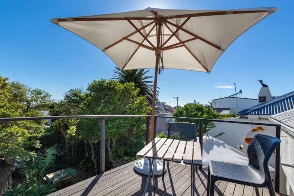 Deck upstairs for sundowners