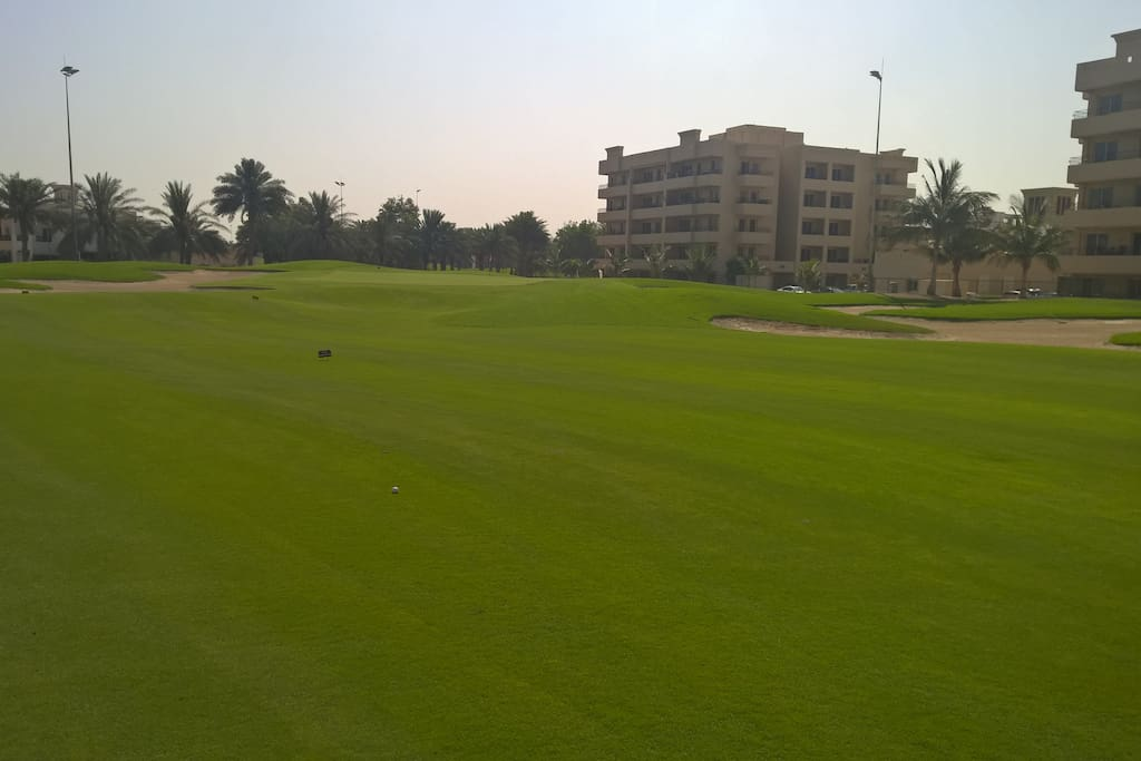 The view to the appratment from the Golf Course