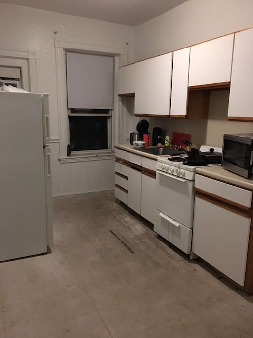 The kitchen, you can share the oven, fridge and hobs with other rentees.
