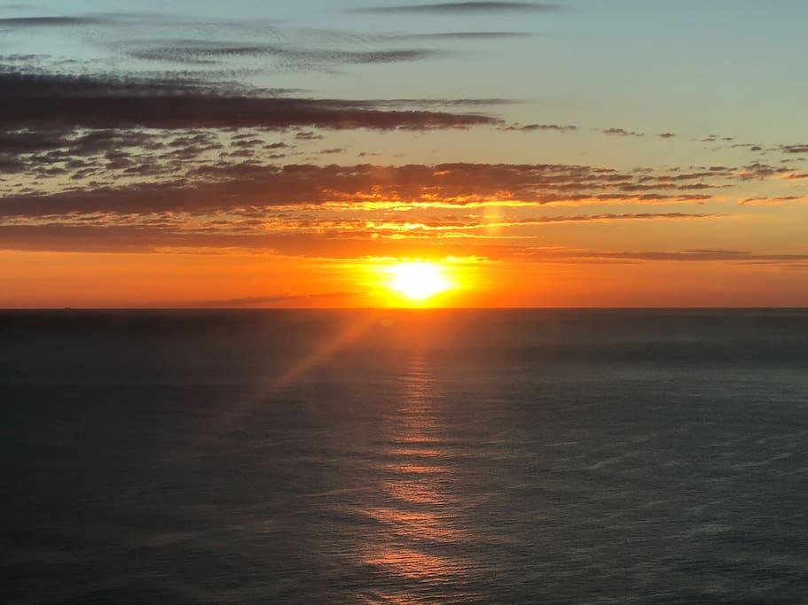 Perfect sunrise over the sea