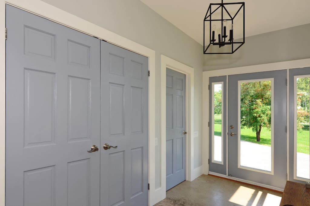 Front entry with double closet