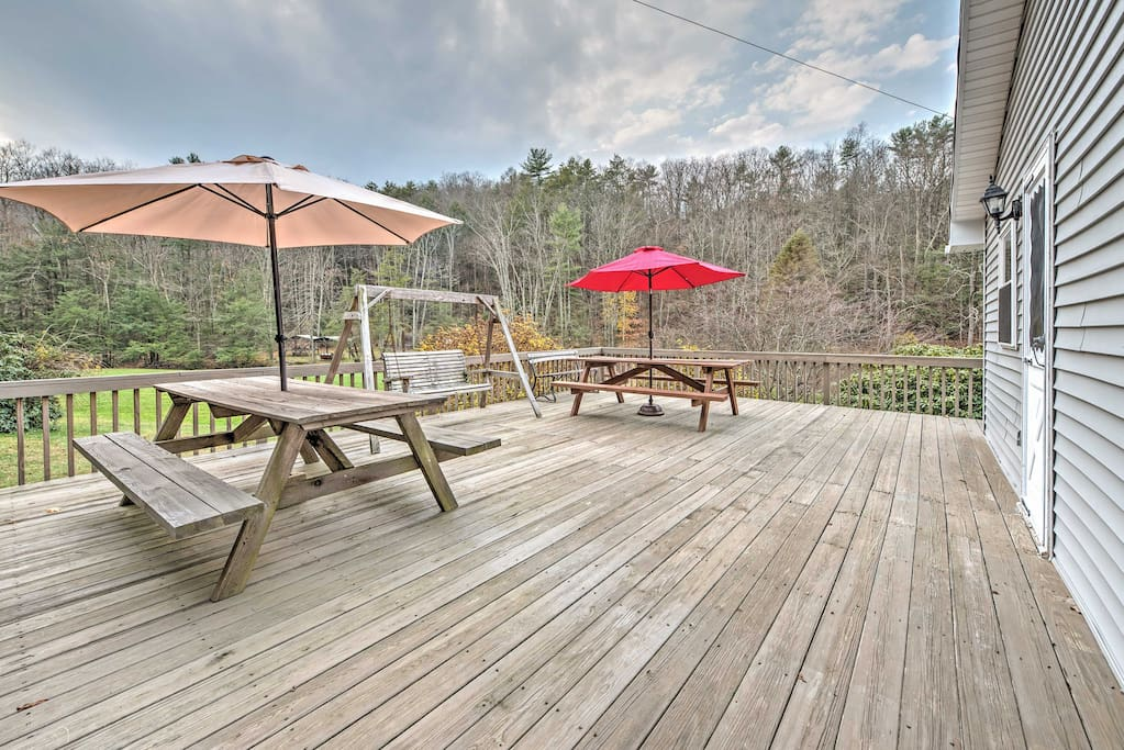 The spacious deck will quickly become your favorite place to relax.