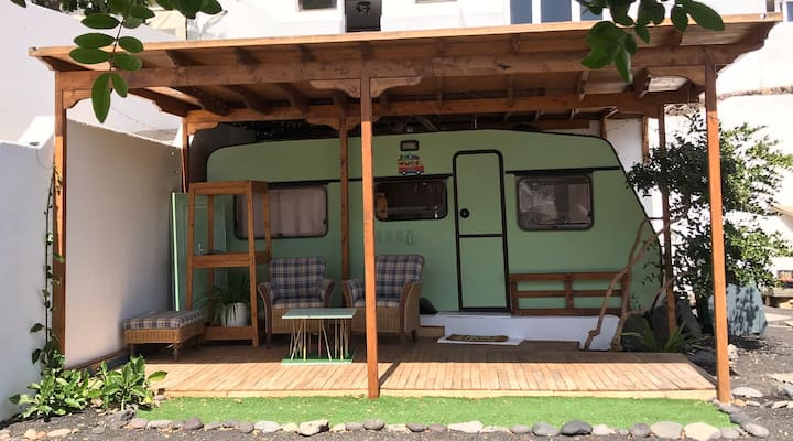 Peace and relaxation in  this cozy caravan.