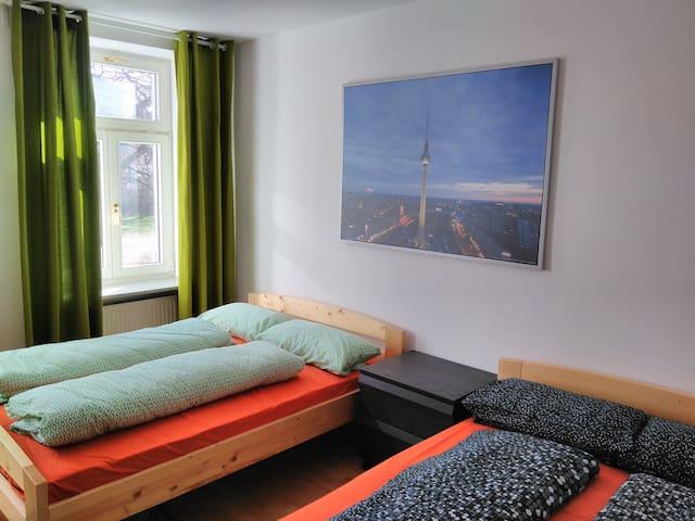 Ruhige Wohnung für 6 Personen in Stötteritz - Leipzig - Apartment