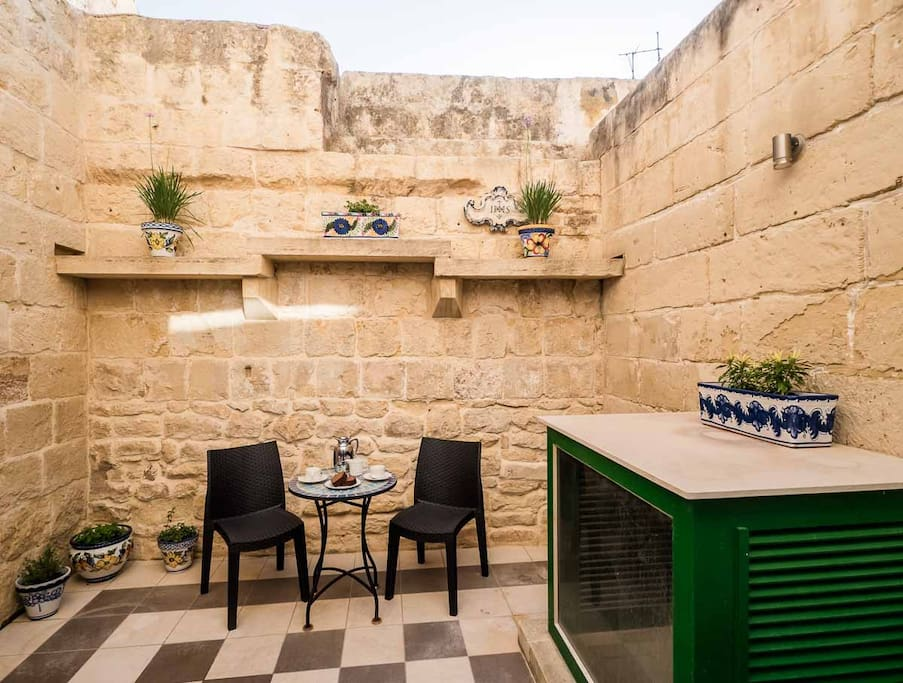 Rear courtyard for a quiet coffee, even pick some fresh herbs for your tea in the mornings.