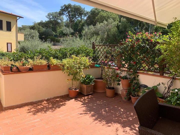 Casa con giardino a Porto Ercole