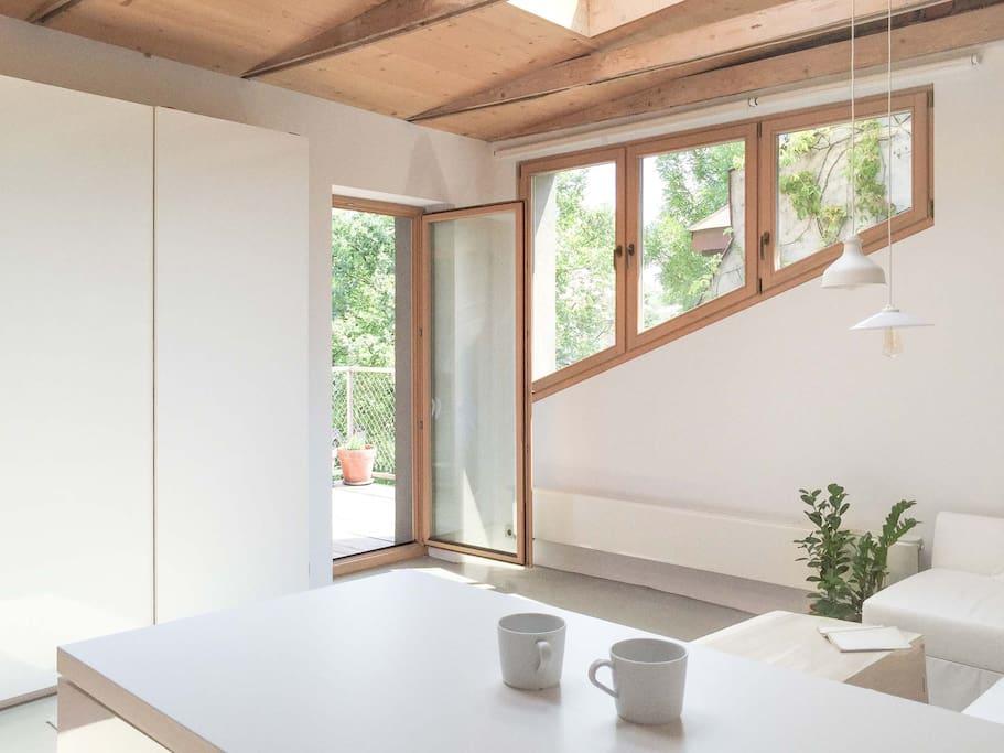 living room  / wardrobe / balcony enrance