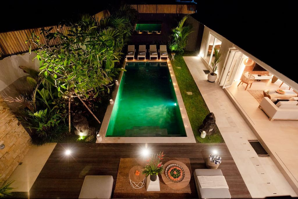 Pool view from rooftop