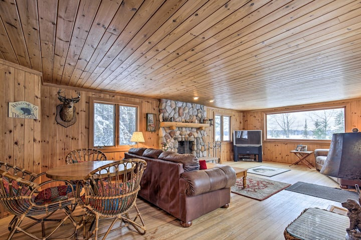 Lakefront Escape w/ Fishing Pier & Snowmobiling!