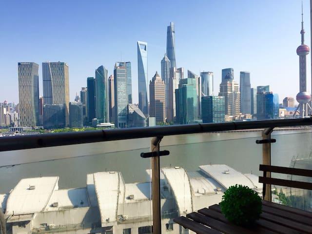 【Riva】全江景套房 俯瞰陆家嘴全景 130平摩登法式 - Shanghai - Apartemen