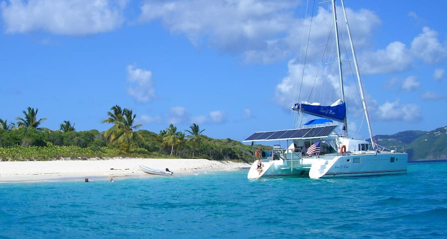 Catamaran Charter All Incl BVI/USVI up to 8 ppl