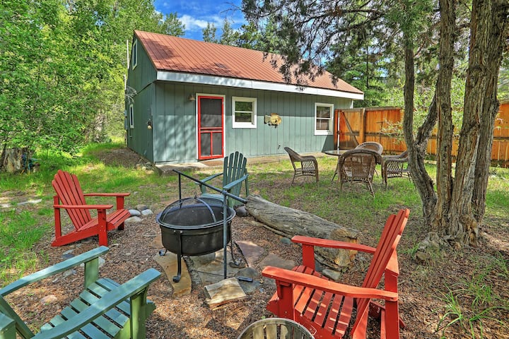 Secluded Ridgway 'Creekside Cottage' w/ Fire Pit!