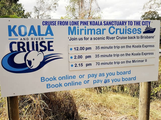 "This popular Brisbane river cruise has been taking locals and visitors to Lone Pine Koala Sanctuary for over 70 years and is a ""must do"" experience while in Brisbane. Check klook for deals."