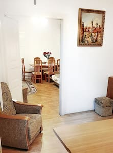 Villa with a garden, close to city railway station