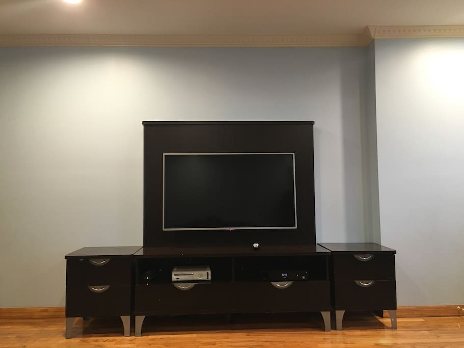 "50"" TV with Cable in Living Room"