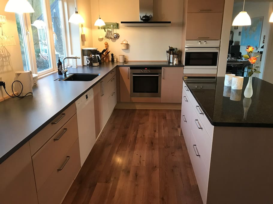 You can use the kitchen, as you want to, buy you have to share it with the family and other guests.