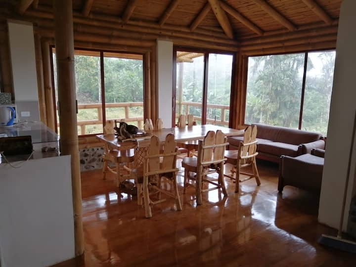 Awesome bambou chalet in a cloud forest area