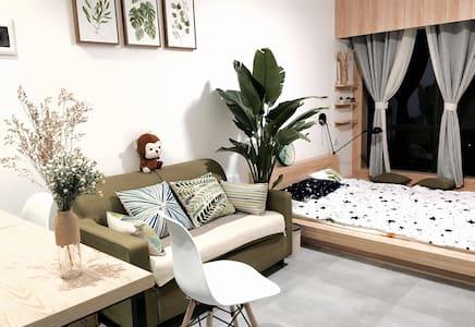 江景公寓,日式现代设计感,家电厨房俱全,出门洋湖湿地公园,空气景色绝美 - 长沙