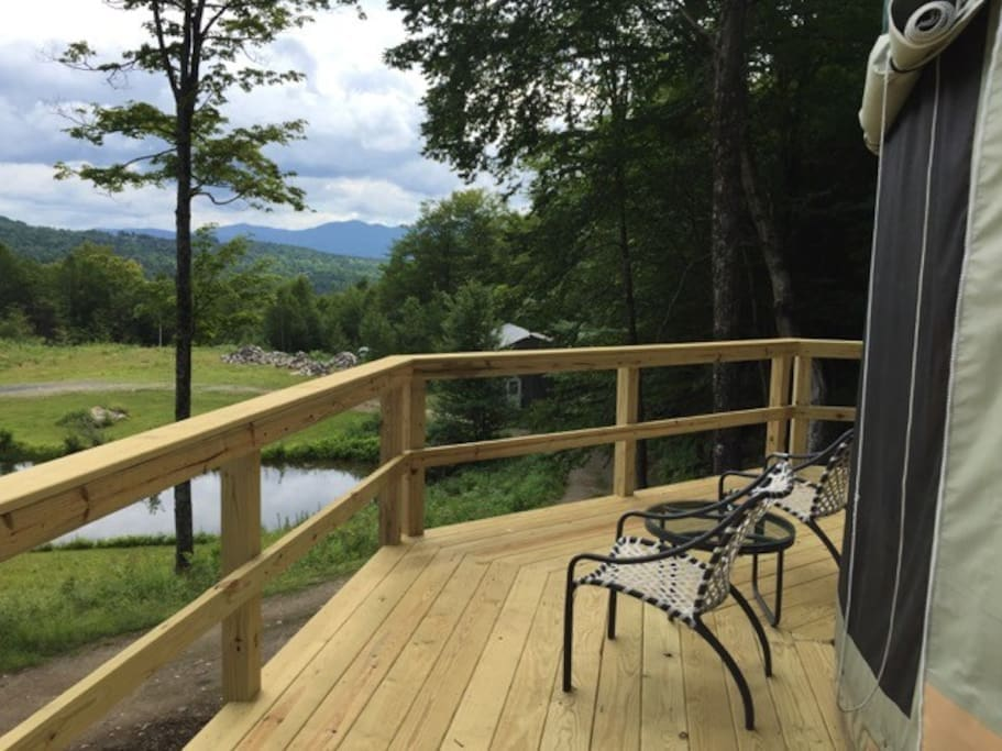 The peaceful deck and the glorious view