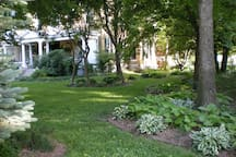 1 acre of grounds and gardens surround this impressive property.