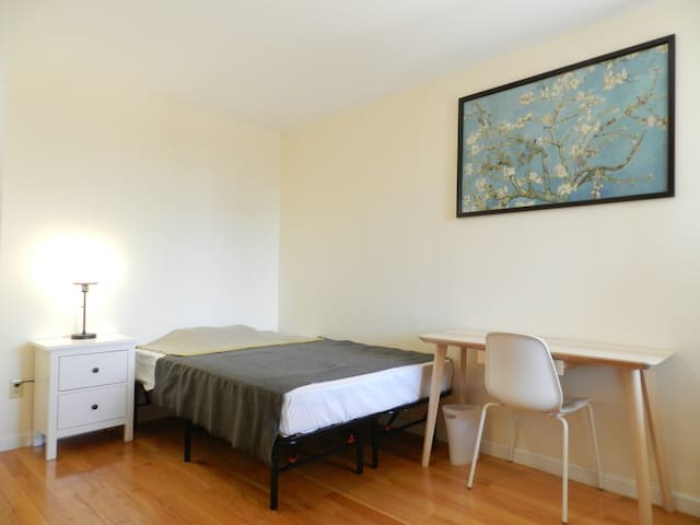 Lux condo room by 61st station w/ in unit laundry