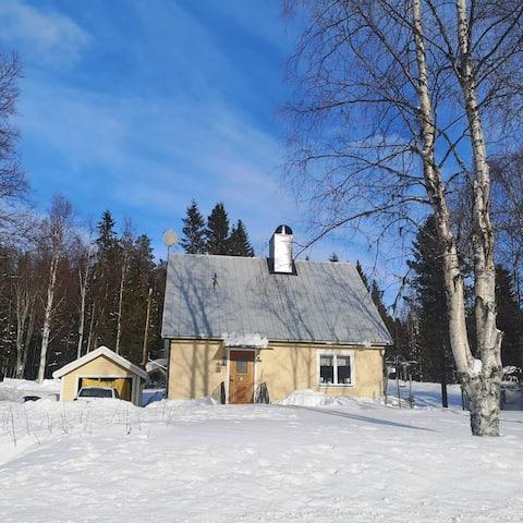 Villa längs Vildmarksvägen (Skansholm/Vilhelmina)