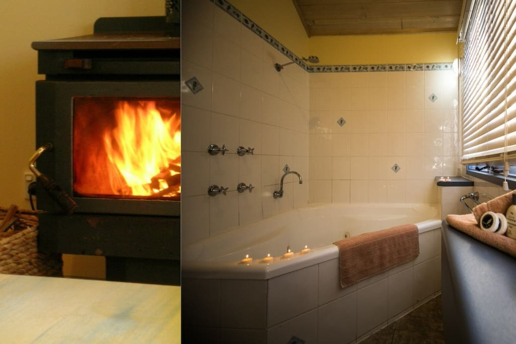 Wood fires and Jaccuzzi spa