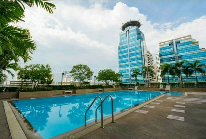 MidCity,Nice Room, 5 mins MRT, BTS,PocketWifi,Pool - Bangkok - Appartement