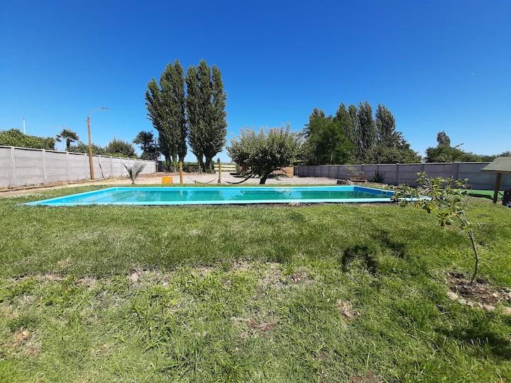 Cabaña de campo, piscina uso exclusivo